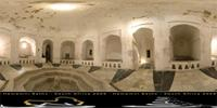 Panoramic image of Hamamni large Persian bath in Zanzibar, Tanzania