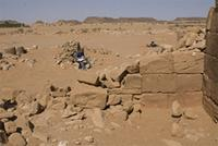 Photogrammetric image of area 400 within the Great Enclosure in Musawwarat es-Sufra, Sudan