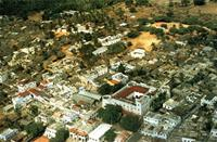 An aerial view of Lamu Town.