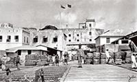 Lamu Fort and docks in the early 1900s.
