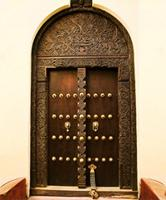 A carved Swahili door.