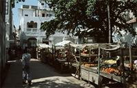 Lamu market scene in the main square.