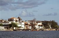 Lamu waterfront near the Fort.