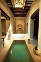 An indoor pool adorning Beit Mkubwa (The Big House).