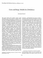 Cows and kings: models for zimbabwes