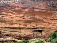 Image of buildings situated on Cliffside in Bandiagara, Mali