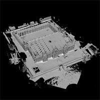 High resolution model of the Great Mosque of Djenne, in Djenne, Mali