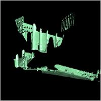 Point cloud of the northern gate and northern section of the Great Mosque in Djenne, Mali
