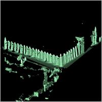 Point cloud of the south-western section and western gate of the Great Mosque in Djenne, Mali