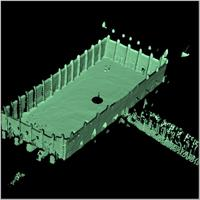 Point cloud of the courtyard of the Great Mosque in Djenne, Mali