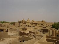Image of the rooftops near the Great Mosque in Djenne, Mali