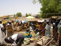 Image of the market in Djenne, Mali