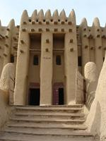 Image of the north entrance to the Great Mosque in Djenne, Mali