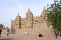 Image of the eastern gate and eastern part of the Great Mosque in Djenne, Mali