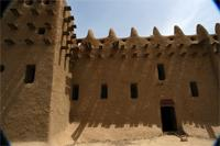 Image of the southern part of the Great Mosque in Djenne, Mali