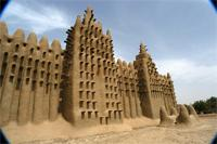 Image of the eastern part of the Great Mosque in Djenne, Mali