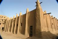 Image of the north-western part of the Great Mosque in Djenne, Mali