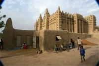 Image of the northern part and eastern part of the Great Mosque in Djenne, Mali