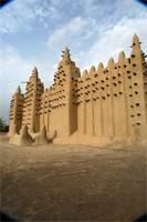 Image of the tomb B and eastern part of the Great Mosque in Djenne, Mali
