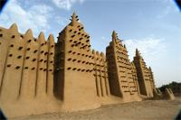 Image of the eastern part and tomb B of the Great Mosque in Djenne, Mali