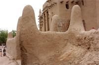 Image of the northern gate II and northern part of the Great Mosque in Djenne, Mali