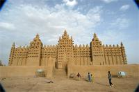 Image of the eastern part and eastern gate of the Great Mosque in Djenne, Mali