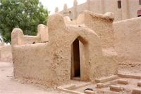 Image of the southern toilets of the Great Mosque in Djenne, Mali