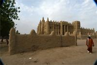 Image of the cemetery of the Great Mosque in Djenne, Mali