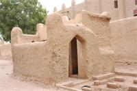 Photogrammetric image of the southern toilets of the Great Mosque in Djenne, Mali