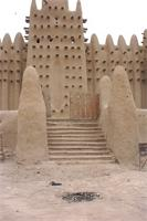 Photogrammetric image of the eastern gate and eastern part of the Great Mosque in Djenne, Mali