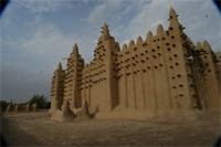 Photogrammetric image of tomb A, tomb B and the eastern part of the Great Mosque in Djenne, Mali