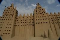 Photogrammetric image of the eastern part and tomb B of the Great Mosque in Djenne, Mali