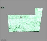 Point cloud of the east facade of the south wall with part of the southeast tower of Gereza in Kilwa Kisiwani, Tanzania