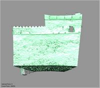 Point cloud of the south wall with views of the southeat tower of Gereza in Kilwa Kisiwani, Tanzania