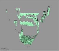 Point cloud of the southern interior with inside court of Gereza in Kilwa Kisiwani, Tanzania