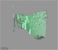 Point cloud of an interior wall in the southwest tower of Gereza in Kilwa Kisiwani, Tanzania