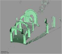 Point cloud of the inside domed and vaulted extension of the Great Mosque in Kilwa Kisiwani, Tanzania