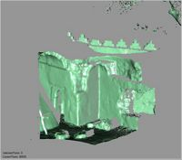 Point cloud of the inside southeast corner of the Great Mosque in Kilwa Kisiwani, Tanzania