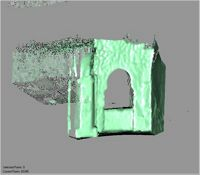 Point cloud of the interior of the northwest door at the Great Mosque in Kilwa Kisiwani, Tanzania