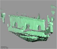 Point cloud of the northeast entrances to the old mosque of the Great Mosque in Kilwa Kisiwani, Tanzania