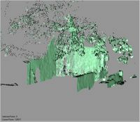 Point cloud of eastern exterior of the south wall and south ablutions in the Great Mosque in Kilwa Kisiwani, Tanzania