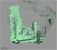 Point cloud of the southern part of the north ablutions of the Great Mosque in Kilwa Kisiwani, Tanzania