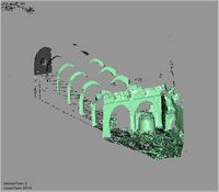 Point cloud of the interior court of the old mosque in the Great Mosque in Kilwa Kisiwani, Tanzania