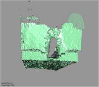 Point cloud of the interior of the old mosque entrance in the Great Mosque in Kilwa Kisiwani, Tanzania