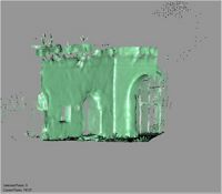 Point cloud of the exterior doors to the old mosque in the Great Mosque in Kilwa Kisiwani, Tanzania
