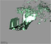 Point cloud of the south ablutions in the Great Mosque in Kilwa Kisiwani, Tanzania
