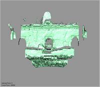 Point cloud of east exterior old mosque entrances in the Great Mosque in Kilwa Kisiwani, Tanzania