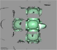 Point cloud of panoramic scan of domed ceiling of the Great Mosque in Kilwa Kisiwani, Tanzania