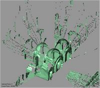 Point cloud of the northwest interior of the Great Mosque in Kilwa Kisiwani, Tanzania
