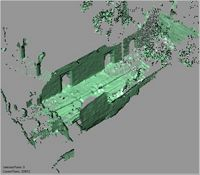 Point cloud of the south ablution in the Great Mosque in Kilwa Kisiwani, Tanzania